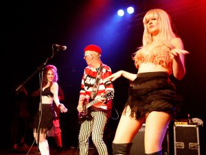 The Damned, go-go dancers, Metro Theatre, Sydney, 21/1/2012