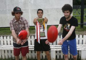 Cec, Adam Yee, Sam from Holy Soul Reclink Community Cup Training Sydney